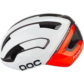 POC Omne Air Spin Casque, blanc/orange